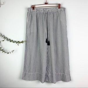 Gillian & O'Malley Striped Crop PJ Pants